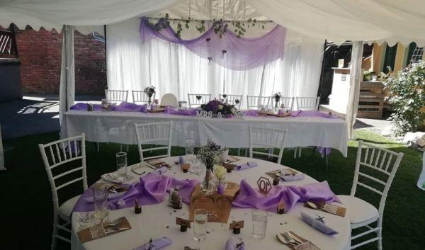 elegantní svatební židle Tiffany